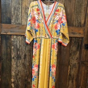 Flying Tomato, S, NWT, Yellow Floral Jumpsuit